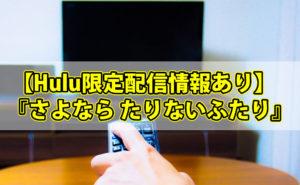 【Hulu限定配信情報あり】『さよなら たりないふたり』は関東ローカルで地上波放送!たりてる二人の漫才とは?